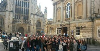 The Roman Baths and Bath Abbey - Voyage en Angleterre - 4a et 4b