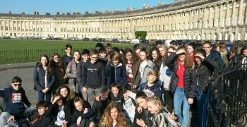 The Royal Crescent à Bath - Voyage en Angleterre - 4a et 4b